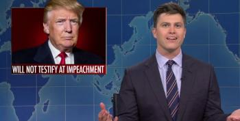 SNL's Colin Jost Begs Trump To Testify At His Impeachment Trial