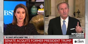 Trump Impeachment Lawyer Bullies CBS Reporter For Asking For Clarification On Attack On House Managers