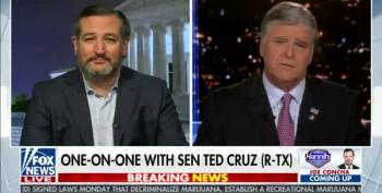 Cancun Cruz Runs To Hannity (Again) To Lie About The Texas Blackout