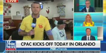 Fox And Friends Promotes CPAC, Disses Masks In Orlando Cafe