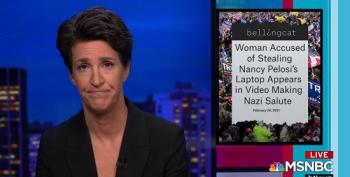 Rachel Maddow Shows Video Of Suspected Capitol Rioter Giving Nazi Salute