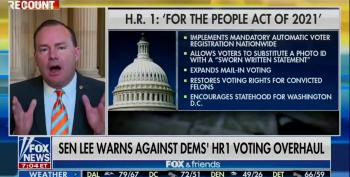 Mike Lee Is Horrified Over Voting Rights Bill