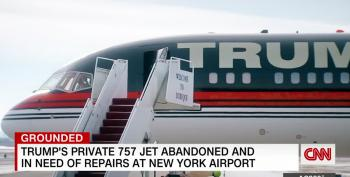 Trump's Gold-plated 757 Sits Idle On Tarmac, Rusting Away