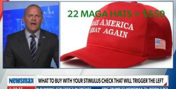 Newsmax Host Tells Viewers To Buy Guns, Ammo, MAGA Hats With Stimulus To 'Trigger' The Left