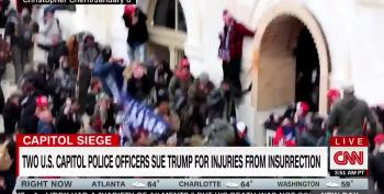 Two Police Officers Sue Trump For Inciting Capitol Hill Attack
