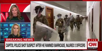 Capitol Police In Riot Gear In Halls After Car Attack