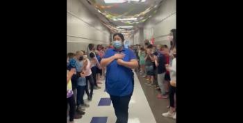 Students Cheer Cafeteria Manager After Passing US Citizenship Test