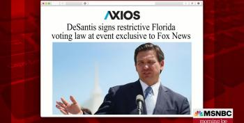 Ron DeSantis Signs His Voter Suppression Bill For Fox Viewers -- Sort Of