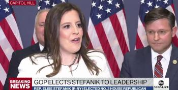 Elise Stefanik's First Official Act Is To Kiss Trump's Orange Butt