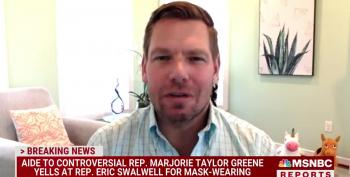 Mask Dispute Between Rep. Swallwell And Aide To Marjorie Taylor Greene Grows Heated