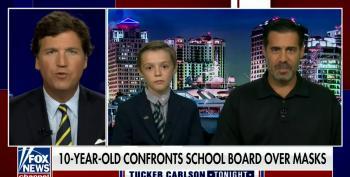 Tucker Exploits Child For His Anti-Mask Crusade