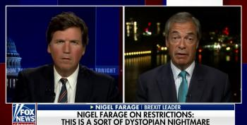 Nigel Farage Spouts Absurd Conspiracy Theory About Vaccine Cards