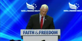 Mike Pence Heckled Mercilessly At 'Faith And Freedom' Conference