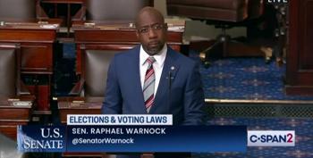 Sen. Warnock's Blistering Voting Rights Speech