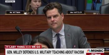 Joint Chiefs Chair Milley Schools Matt Gaetz On Critical Race Theory
