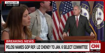 Coward McCarthy Suggests Liz Cheney Is, Possibly, A Democrat