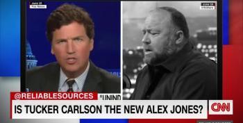 Stelter: Fox's Tucker Carlson Sounding A Lot Like Alex Jones
