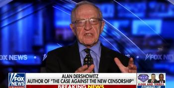Alan Dershowitz Promotes His New Book To MAGA Cult