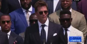 Tom Brady Swipes At Trump During White House Visit