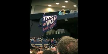 'Trump Won' Banner Ripped Down At Tropicana Field