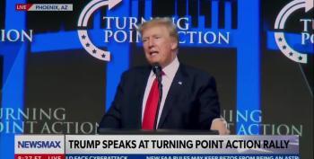 Traitor Trump Lies In TPUSA Rally