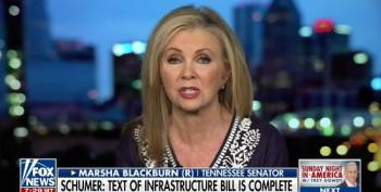 Blackburn Pushes For Wall In Infrastructure Bill, Then Says She's Against Wasting Money