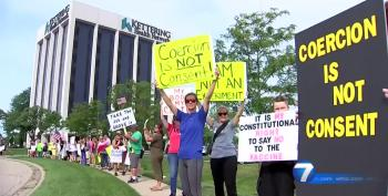 Protestors Demonstrate In Response To COVID-19 Vaccine Mandate For Hospital Workers