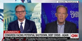 Pat Toomey Lies About Raising Debt Ceiling