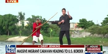 Griff Jenkins On A Raft, Spying On Migrants