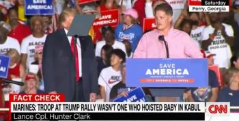 Lance Cpl Clark Lies At Trump Rally About Saving A Baby