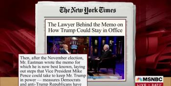 NYT Finally Notices John Eastman's Coup Memo