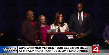 Whitmer Vetos GOP Voter Suppression Bills At NAACP Meeting