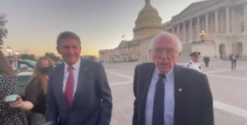 Manchin And Sanders Together At US Capitol