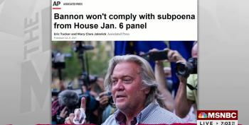 Bannon Referred For Criminal Contempt By J6 Committee