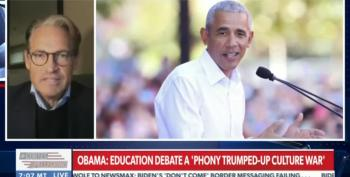 Obama Mentions 'Phony Trumped Up Culture War,' Newsmax Flips Out
