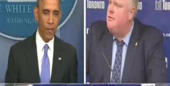 CNN Split-Screen Segment Compares Obama And Crack-Smoking Mayor Rob Ford