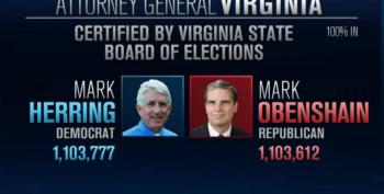 Will Virginia Republicans Steal Democrats' AG Win?