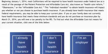CA Assembly GOP Puts Up Fake California Health Exchange Site