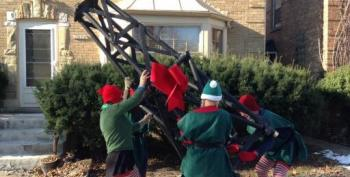 'Elves' Protest Fracking On Illinois Governor's Lawn