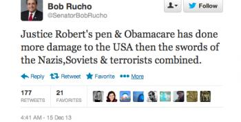 Stupid Right-Wing Tweets: NC State Sen. Bob Rucho Edition