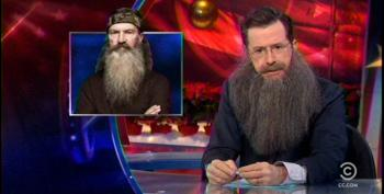 Colbert Opines That Duck Dynasty May Have Lost Their 'Massive Black And Gay Audience'