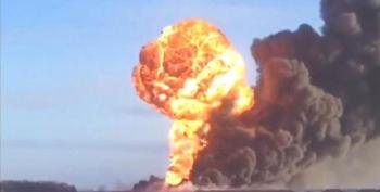 Fiery Crude Oil Train Crash In North Dakota