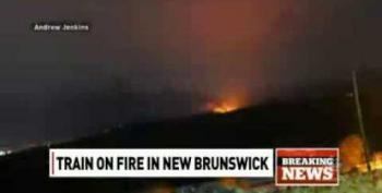 Another Train Carrying Oil Derails, Catches Fire In New Brunswick, Canada