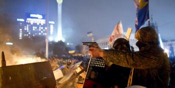 Kiev In Flames As Obama Warns Of 'Consequences'