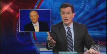 Stephen Colbert Keeps His Auction War Going With 'Papa Bear' O'Reilly