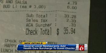 Florida Restaurant Adds ACA Surcharge To Guests' Tab
