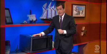 Stephen Colbert Auctions Off O'Reilly's Green Room Microwave
