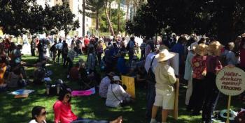 Anti-Fracking Activists Surround California Capitol