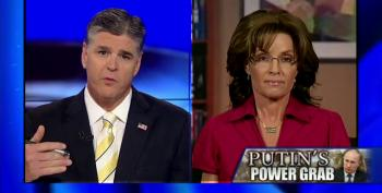 Foreign Policy 'Expert' Blind-Squirrel Palin Runs To Hannity To Gloat That She Was Right About Putin