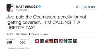 Matt Drudge Makes First Contribution To 'Drudge Moocher Fund'